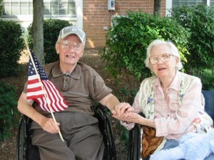 Jean is pictured a few years ago with her lifelong firend Gen. John Morrison.