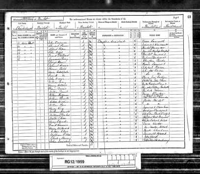 1891 England Census - Walter Thomas Babb - 02