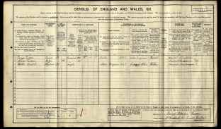 1911 England Census - Walter Thomas Babb