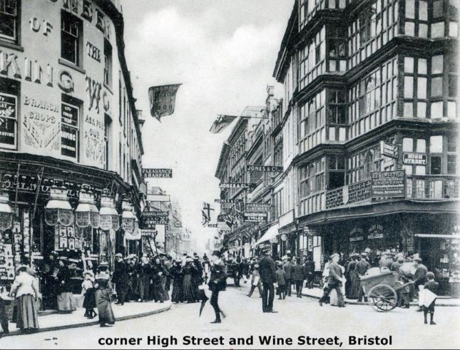 Corner High Street and Wine Street, Bristol