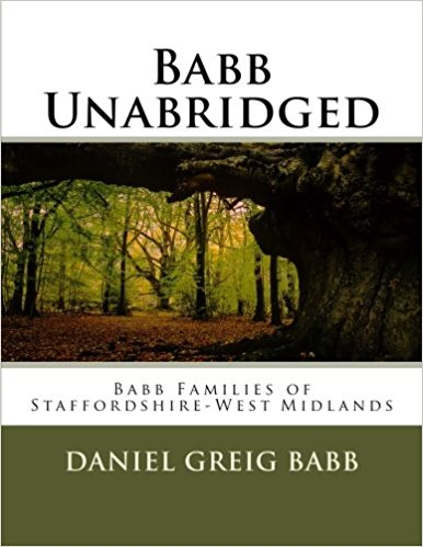 Vol 14 - Babb Families of Staffordshire-West Midlands Cover