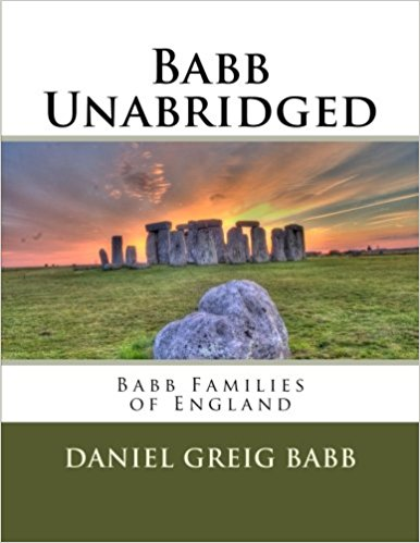 Vol 15 - Babb Families of England Cover