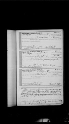 Rees S. Babb & Harriett (Preston)- Marriage Record