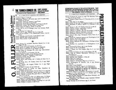 US City Directories, 1822-1995 - Harriet Marinda McCowan