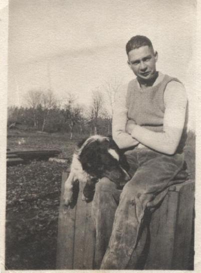Charles Harding Babb Photo and his dog