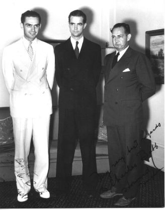 Charles Harding Babb with Howard Hughes & Unidentified Man